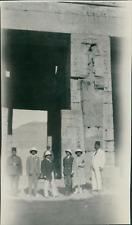 Elias D. Bichara, Egypte, Maréchal Franchet d'Esperey à Louxor  Vintage sil