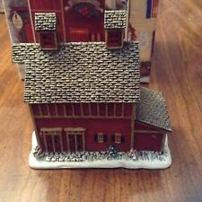 Lang & Wise1998 Town Hall Collectibles #8 Old Red Mill w/ box;Linda N. Stocks