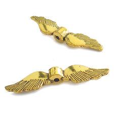 Metallperlen Flügel 35 mm Farbe Gold antik 15 Spacer Perlen nenad-design AN757
