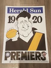 1920 RICHMOND TIGERS PREMIERSHIP WEG POSTER LIMITED EDITION OUT OF 1000