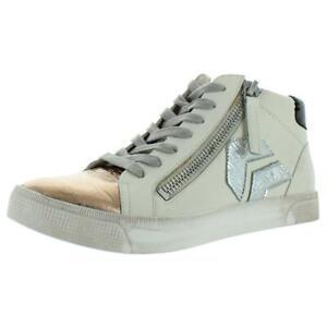 Dolce Vita Womens Zonya White Fashion Sneakers Shoes 10 Medium (B,M) BHFO 6816