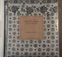 Stone Cottage Bexley Blue 3 Pc Rweversible Full/Queen Quilt Set NWT