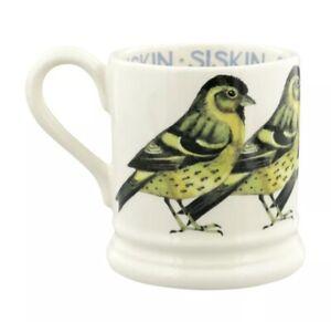 Emma Bridgewater Siskin Half Pint Mug, Earthenware Bird