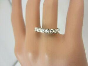 Vintage 18k White Gold 0.65 carat Diamond Wedding Band Ring