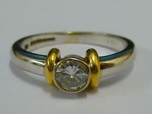 Ladies 18ct White Gold 27pt Diamond Solitaire Ring - Size N 1/2 + Appraisal