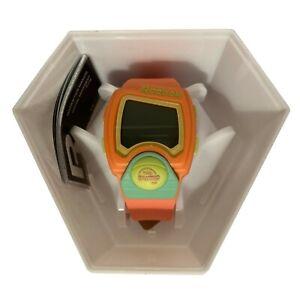 Reebok Unisex Digital Pump Watch Coral & Mint Strap 42mm RC-PLI-G9-PCPC-MT