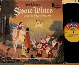 Walt Disney's Snow White 7 Dwarfs Soundtrack Vinyl LP Disneyland 1201 Near Mint