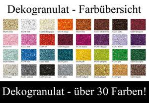 Dekogranulat / Farbgranulat im 1 kg Beutel - Körnung 2-3 mm Dekosteine Streugut