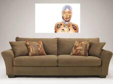 """ERYKAH BADU MOSAIC TILE 35"""" BY 25"""" INCH LARGE WALL POSTER DREAM NEO SOUL"""