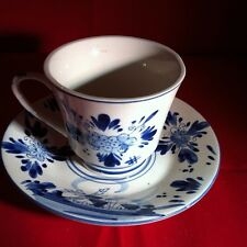 Dutch Delft Blue Porcelain Hand painted  Tea Cup & Saucer