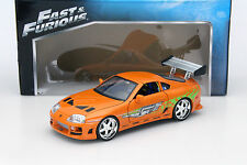 Brian's Toyota Supra Fast and Furious orange 1:18 Jada Toys