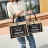 Women Linen Luxury Tote Large Capacity Shoulder Bag Handbag Beach Shopping Bags