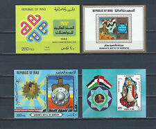 Middle East Iraq Irak 1980s 4 mnh stamp sheets - Saddam Hussein - military