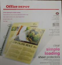Clear Plastic Sheet Protectors Page Document Office Ring Binder. 100 Pkg