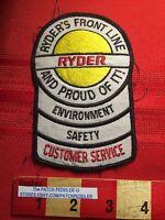 RYDER TRUCK ADVERTISING JACKET PATCH ~ Customer Service ~ VINTAGE ~ C634