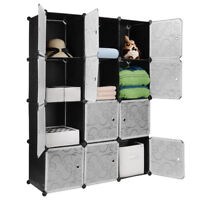 Sortwise® DIY Wardrobe Closet Cabinet Interlocking 12 Cubes Storage Organizer