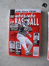 2007 Who's Who in Baseball Almanac Book