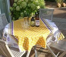Tischdecke Provence 180 cm rund gelb Punktmuster aus Frankreich, pflegeleicht