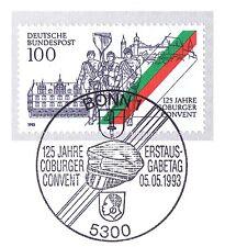 BRD 1993: Coburger Convent Nr. 1676 mit Bonner Ersttags-Sonderstempel! 1A! 1711