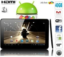 "Tablette PC Tactile 10"" Ecran 9 tactile Android WiFi HD 1080P Camera 40Gb"