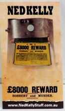 79001 NED KELLY STUFF COLLECTABLE PIN BADGE 1 of 20 REWARD POSTER ROBBERY MURDER