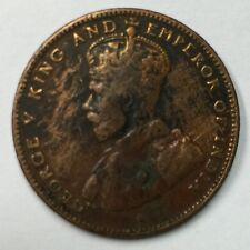 1916 Straits Settlements 1/2 cent bronze  coin  high Grade !