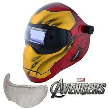 New Save Phace Efp I Series Welding Helmet Marvel Iron Man 180 49 13 Adf Lens