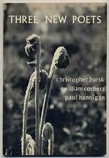 Christopher BURSK, Paul Hannigan / Three New Poets Signed 1st Edition 1966