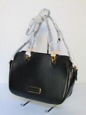 NEW Marc Jacobs Ligero Black Leather Satchel Tote Shoulder Handbag M0005312