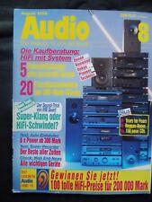 AUDIO 8/93,PIONEER CT 95,CANTON ERGO SC 5,KENWOOD KT KX DP KA 3050L,DENON TU 580