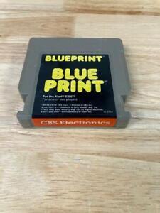 Blueprint Blue Print Atari 5200 Game Cartridge