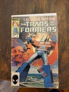 Transformers #1 Marvel Comics 1984 Low Grade