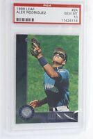 1996 Leaf Alex Rodriguez #24 PSA 10 Gem Mint Seattle Mariners Pop 10