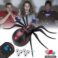 Remote Control Climbing Spider Toys Halloween Prank Realistic Scary Tricks Party