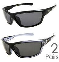 2 PAIR COMBO Nitrogen Polarized Sunglasses Golf Running Fishing Driving Glasses
