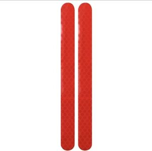 2x Car Reflector Stickers Rearview Mirror Reflective Tape Warning Strip