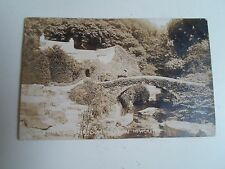 G123 Nostalgic RPPC Old Mill+Bridge Jesmond Dene Franked+Stamped 1910 PHOTO THD