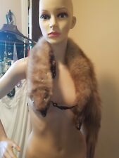 Vibtage Whole Fox Scarf Wrap Shaw With Balls And Clamp Mouth # 1111