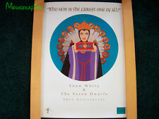 "WDCC ""Who Now is he Fairest One of All"" SNOW WHITE 60th Disney 1997 LE Art Print"