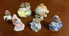 Hallmark Merry Miniatures Cinderella Set / Lot of 6 Mice Miniatures