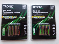 GERMAN BATTERIES 8X TRONIC 950MAH AAA NIMH RECHARGEABLE STAY CHARGED PRE CHARGED
