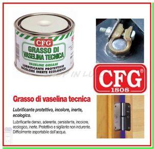 Grasso VASELINA CFG 500ml Paraffina Pura Protettivo Isolante Cerniere Serrande