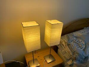 Ikea magnarp table / bedside lamp (x 2)