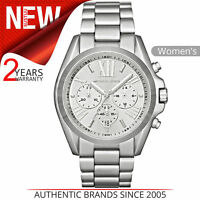 Michael Kors Bradshaw Reloj Mujer │ Cronógrafo Esfera │ Tono Plateado Brazalete