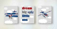Canvas Nursery Rhyme Wall Decor Unique Memorable Airplane Art Gifts for Bedrooms