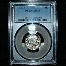 1936-S BUFFALO NICKEL ✪ PCGS MS-65 ✪ 5C GEM UNCIRCULATED UNC 765 ◢TRUSTED◣