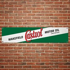 Castrol Wakefield Banner Motor Oil Garage Workshop PVC Sign