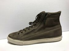 John Varvatos Vulcanized Washed Suede Double Zip Brown Size 12 M Mens