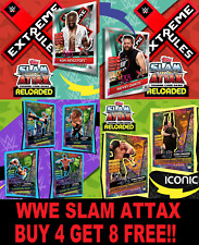 Topps WWE SLAM ATTAX RELOADED ☆ (2020)  Buy 4 Get 8 FREE!! RAW SMACKDOWN NXT