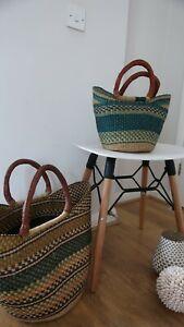 Bolga basket, African basket, Hand woven basket, storage basket, shopping...